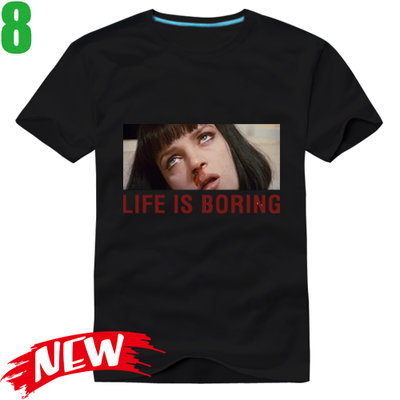 【黑色追緝令 Pulp Fiction LIFE IS BORING】短袖經典電影T恤 任選4件以上每件400元免運費!
