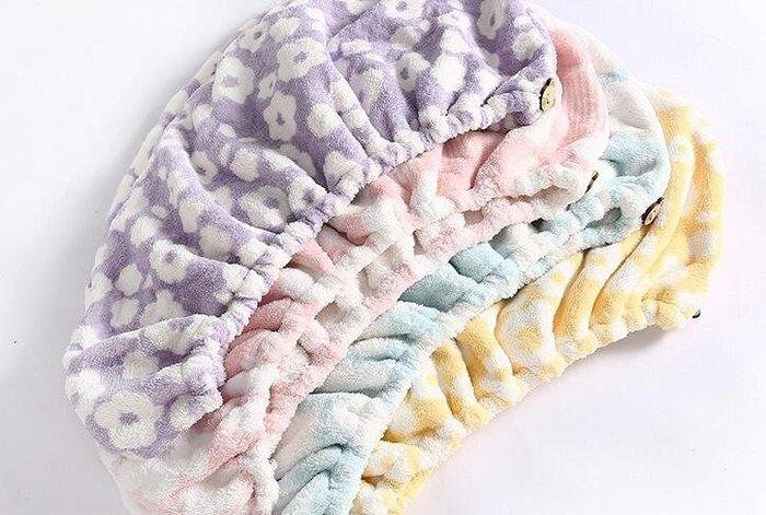 AOKEE超強吸水印花乾發帽孕婦乾發巾成人兒童浴帽速乾包頭巾