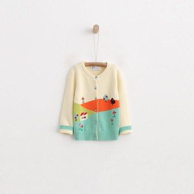【Mr. Soar】 **清倉** F123 秋冬新款 韓國style童裝女童可愛房子小樹針織外套 現貨