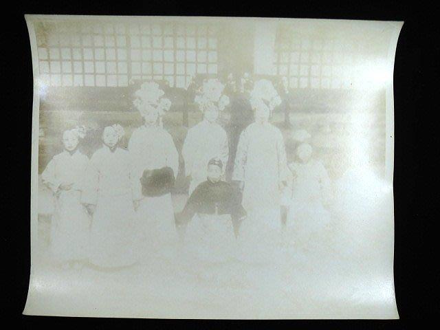 【 金王記拍寶網 】S936   清代老照片 仿古清代老照片 清代人物照片 一張 罕見 稀少~