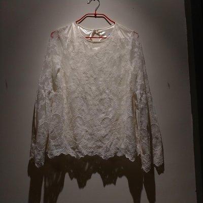 VOO STORE 韓國製刺繡雕花優雅風上衣