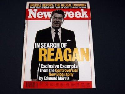 【懶得出門二手書】英文雜誌《Newsweek》IN SEARCH OF REAGAN 1999.10.4(無光碟)│(21F32)
