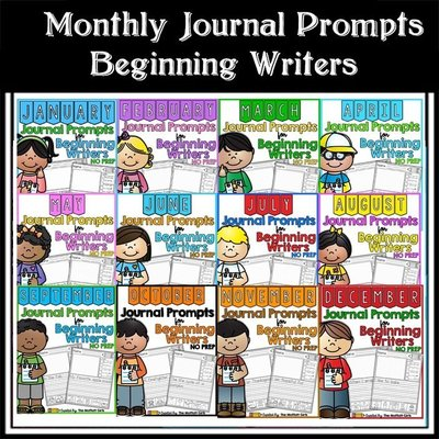 現貨@特賣@Monthly Journal Prompts for Beginning Writers幼兒早教英語月份學