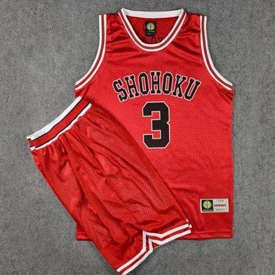 灌籃高手球衣隊服湘北3號赤木晴子籃球衣背心籃球服套裝紅色 LOVELIFEE