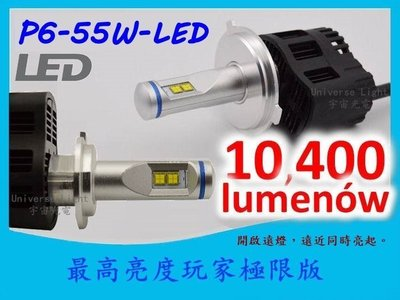 可調焦距 P6 MZ 5200LM 白光 黃光 解碼 H4 H7 H11 9005 9006 LED 大燈 汽車 飛利浦