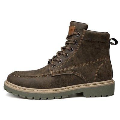 軍靴 馬丁靴男中筒短靴英倫風復古 新款...