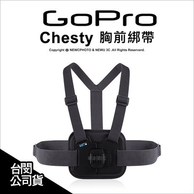【薪創台中】GoPro 原廠配件 Chesty 胸前綁帶 束帶 胸前固定帶 綁帶 AGCHM-001 公司貨