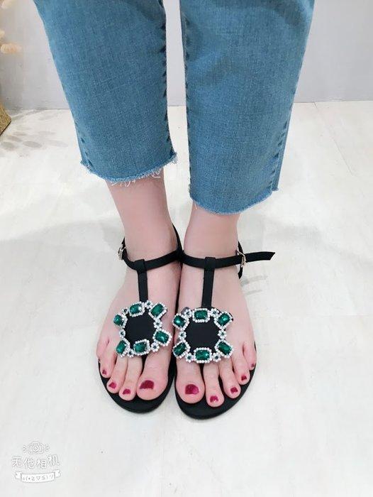 ✽JoBella 韓國空運 韓國代購 韓貨✽ 綠寶石涼鞋 現貨+預購