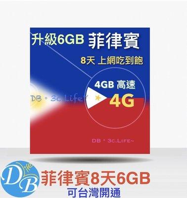 【捷運自取】【菲律賓 8天上網卡 】AIS多國 菲律賓上網 可熱點 DB 3C LIFE