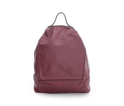 RABEANCO 義大利頂級皮革 時尚牛皮菱形後背包 專櫃正品 現貨 紫紅