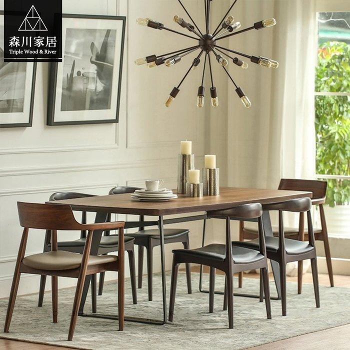 《森川家居》LRT-05RT05-美式工業LOFT原木萬用桌 餐廳咖啡廳民宿品東西餐桌休閒椅/北歐簡約設計/IKEA復古