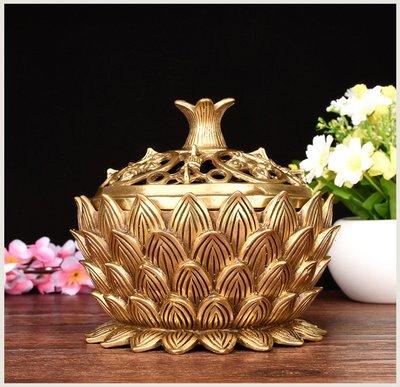蓮花香爐 華鑫銅146
