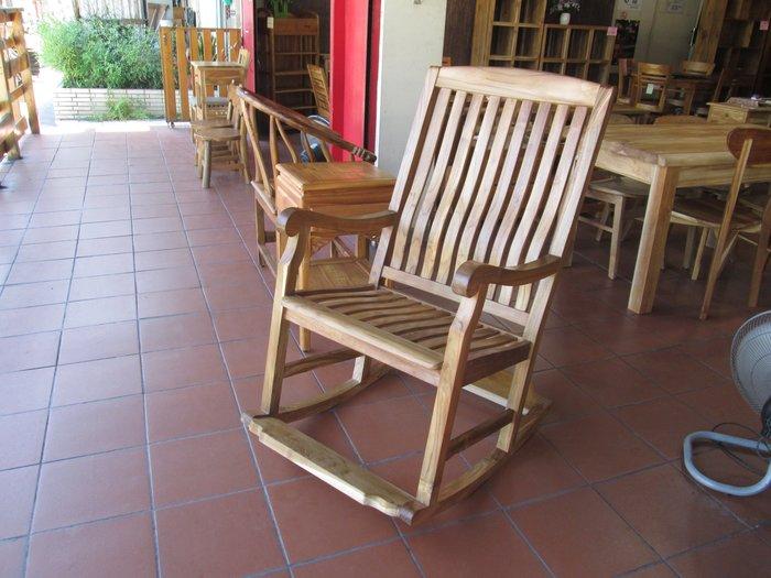 【肯萊柚木傢俱館】印尼100% 老柚木無上漆 手工雕刻 耐重 搖椅 休閒椅 主人椅 民宿 店面 擺飾 實用美觀