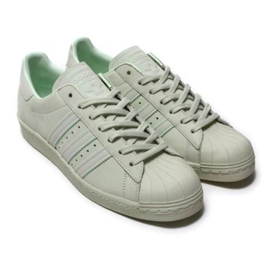 【AYW】ADIDAS ORIGINALS SUPERSTAR 80S 貝殼 奶油頭 經典 復古 休閒鞋 運動鞋 湖水綠