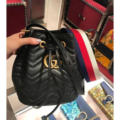 Gucci Marmont Quilted Leather Bucket 476674 水桶包 斜挎包