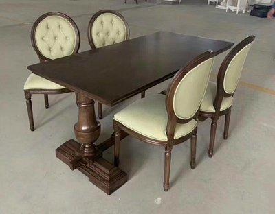 【順發傢俱】客製傢俱~鄉村風餐桌,餐椅,依圖訂製 39
