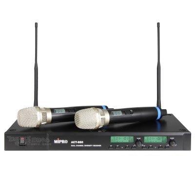 【昌明視聽】 MIPRO ACT-880 雙頻道自動選訊接收機 112選頻 適用:舞台 卡拉OK 以避開4G干擾