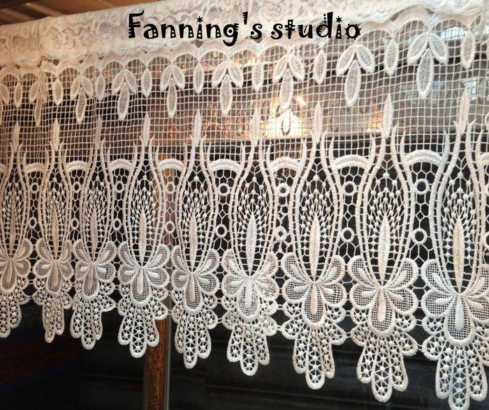 ~芬妮卡Fanning服飾材料工坊~宮廷蕾絲花朵 窗簾 門簾 DIY 材料 1尺入 ~ ~