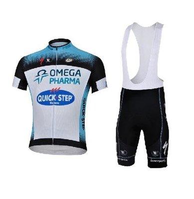 【購物百分百】13QUICK STEP專業騎行服 自行車服 腳踏車服 車衣車褲背帶短套裝 東