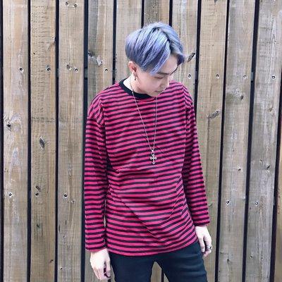 【inSAne】Korea Select /  百搭條紋 / 單穿內搭都好看 黑 & 紅 & 黃