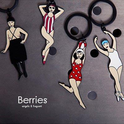 鑰匙圈 文創吊飾 YIZI一只 搞笑裸女LADIES鑰匙圈 Berries【YZ024】