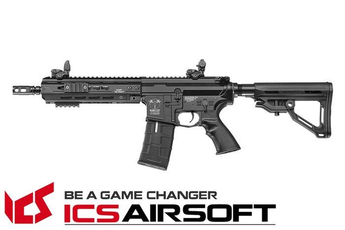 【翔準軍品AOG】ICS CXP-HOG 戰術標準版(黑)(後出線) EBB Keymod M-Lok 全金屬 電動 生