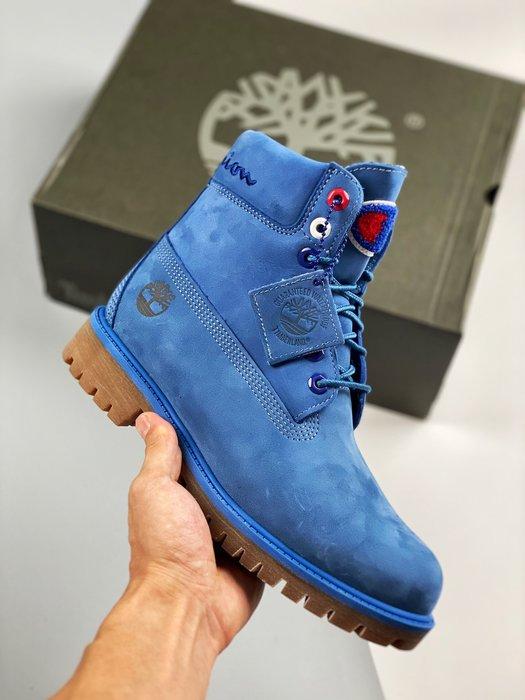 正品Timberland x Champion 聯名潮流爆炸款工裝靴時尚馬丁靴 39-45碼