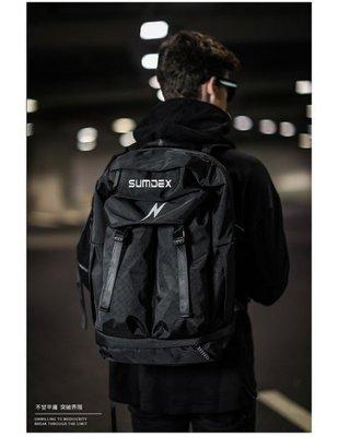 加賀屋 SUMDEX 大容量 運動登山包 15.6吋 筆電背包 黑色 後背包 TX5002