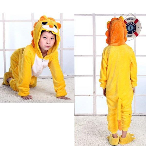 5Cgo【鴿樓】會員有優惠 15648041282 秋冬兒童卡通連體睡衣 動物連體家居服 獅子