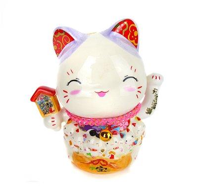 節慶王【Z894754】幸福滿滿招財貓,春節/過年佈置/擺飾/做生意/送禮