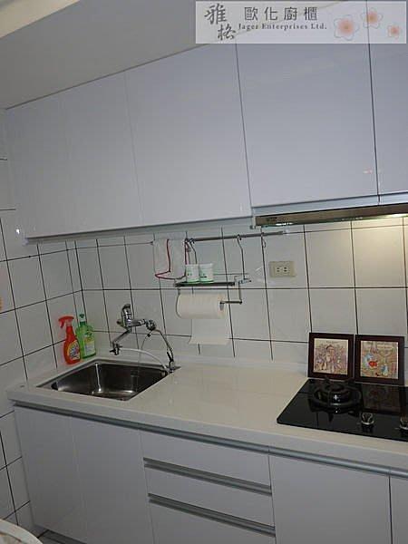 【雅格廚櫃】工廠直營~一字廚櫃、流理台、結晶鋼烤、G型雅典把手