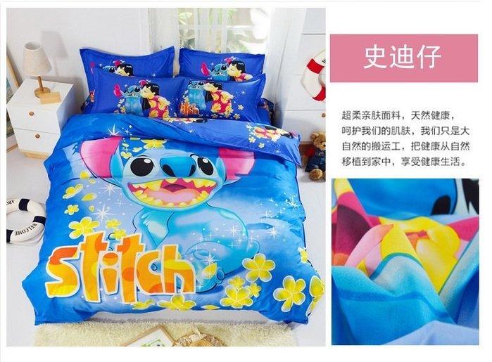 暖暖本舖 3D床包 床罩 床裙 床笠 小黃人 小小兵 冰雪奇緣 小熊維尼 凱蒂貓 多拉A夢 史迪奇床套 Kitty 床包