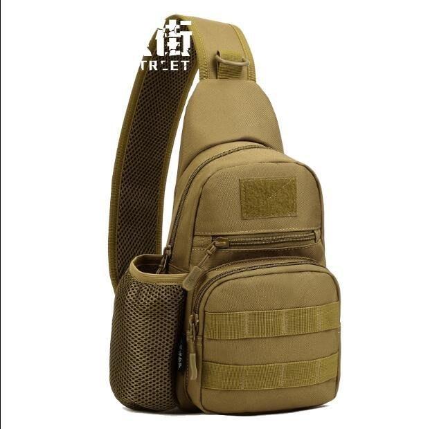 胸包單肩斜挎包男戶外運動迷彩戰術多功能