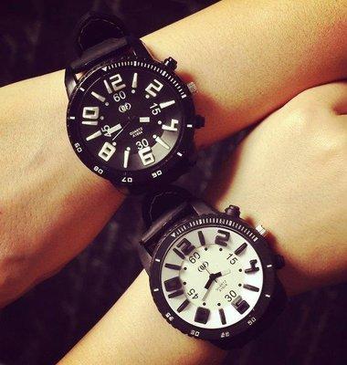 韓國手錶 復古風 超大鏡盤 立體數字情侶錶 中性男女石英錶 agnes風格 多款可選 桃園市