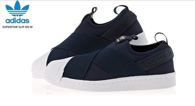 【GS】韓國 ADIDAS ORIGINALS SUPERSTAR SLIP ON 深藍 繃帶鞋 CG4153