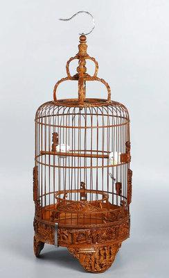 鳳崗文創---{竹雕34}---竹雕----太子籠---含提把尺寸約:23.8 x 23 x 60.1 cm