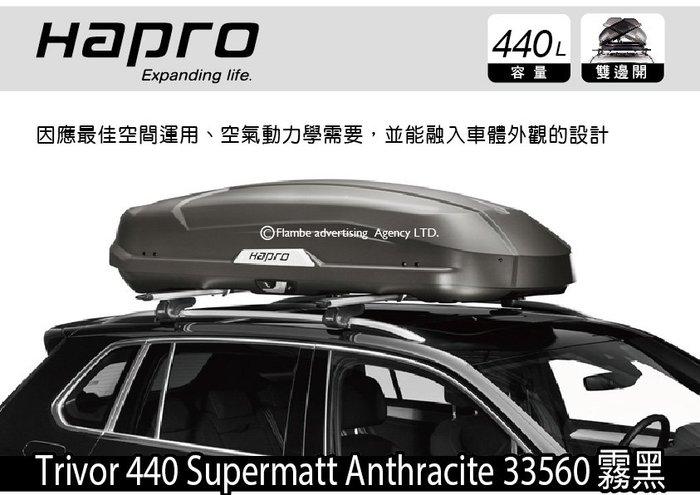   MRK    Hapro Trivor 440 碳纖Supermatt Anthracite 33560 行李箱