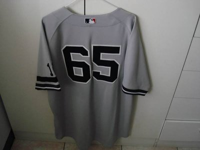 MLB NY YANKEES #65  PHIL HUGHES 2007 GAME ISSUED ROAD 實戰球衣
