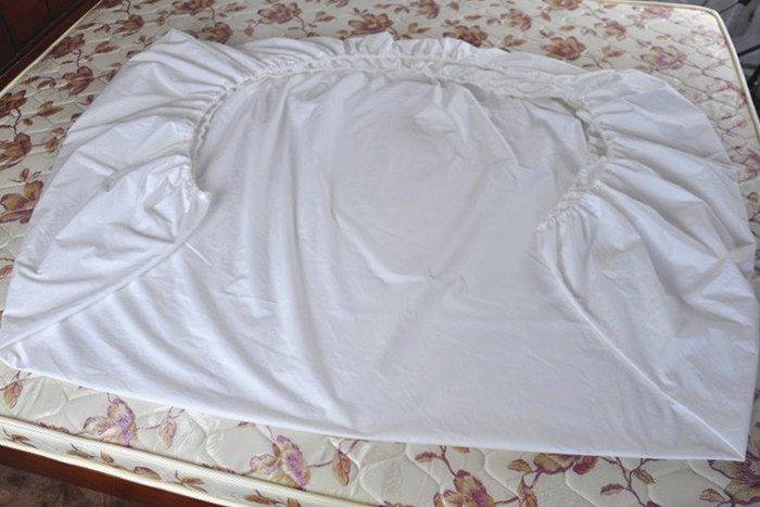 創意 可愛 床笠原白色純棉床笠單件床墊保護套1.5m床套1.8床罩1.2席夢思墊防塵罩