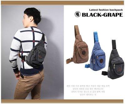 超值水洗帆布單車腰包 / 斜肩包 / 運動腰包【A6015】黑葡萄包包