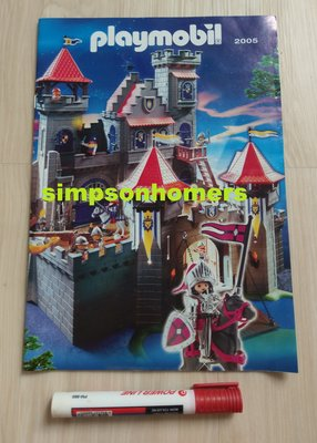 全新 Playmobil 摩比人玩具 2005 Catalogue viking knight 維京武士目錄