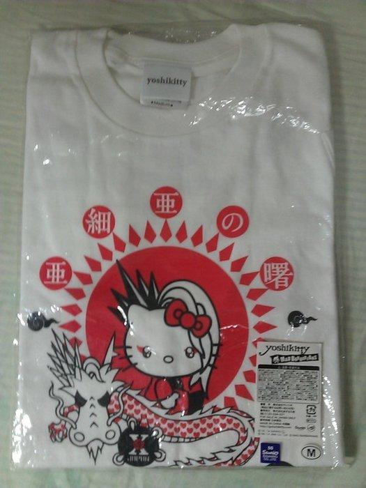 X JAPAN 2014週邊 Yoshiki Yoshikitty 亞細亞之曙 T shirt 白色