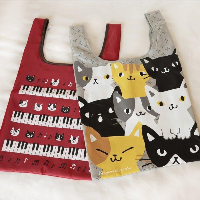 【貓下僕同盟】日本貓咪購物袋 超輕量 外出袋 便利袋 購物袋 環保購物袋 肩背包 摺疊購物袋 收納包