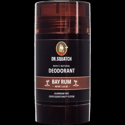 止汗露Dr. Squatch-熱帶島嶼 Bay Rum男士止汗膏 活性炭香體露80g