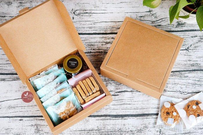 紙盒_上掀式牛皮17x17_2入_B095-021◎紙盒.禮盒.包裝盒.牛皮.掀蓋式.方形