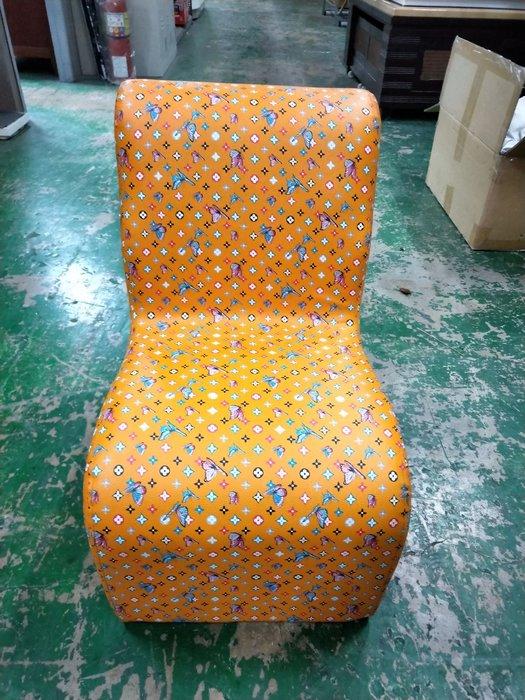 非凡二手家具 全新品 蝴蝶橘小沙發*沙發椅*等候椅*椅凳*矮凳*造型椅*穿鞋椅*坐鞋椅183-3