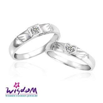 威世登 天然鑽石《心動系列》比翼雙飛 女戒- 韓風設計、情人節、生日、網友狂推熱銷款-JDA03236G-AGBXX