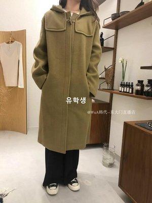 유학생 believe 2019春季新款 WUA韓國東大門代購 超氣質帶帽長款大衣