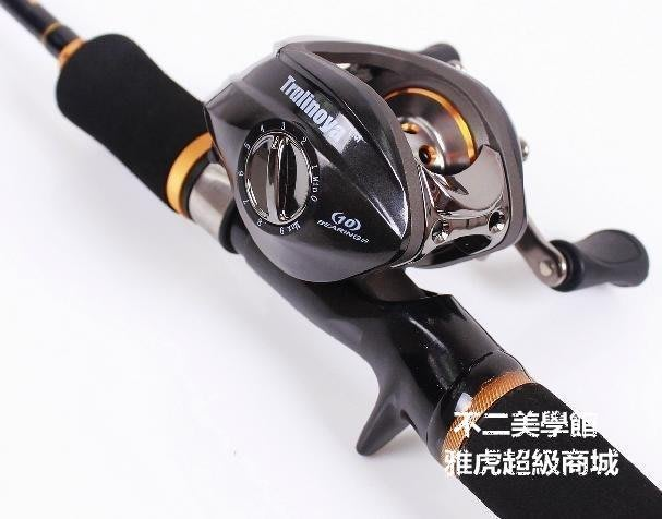 【格倫雅】^推薦 漁之刃路亞套裝 雙梢槍柄路亞竿+11軸水滴32件路亞竿套裝33131