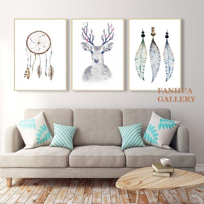 C - R - A - Z - Y - T - O - W - N 麋鹿羽毛溫馨掛畫北歐風格裝飾畫現代簡約客廳背景兒童房掛畫美學軟裝空間設計時尚掛畫抽象雙聯畫